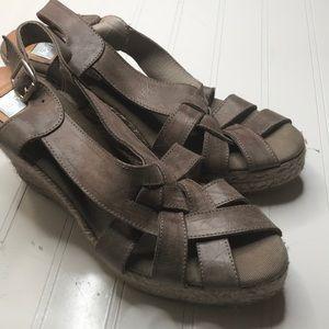 Kaana brown Espadrille Wedge Sandal